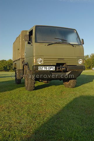 1980s Land Rover Llama prototype No.4. Exhibited at the Dunsfold Collection Open Day 2006, Dunsfold, England, UK. --- No releases available. Automotive trademarks are the proper, authorization may be needed for some uses. --- Information: Land Rover Llama Soft Top belonging to the Dunsfold Collection: chassis number FC004, registration number Q276 DPG, engine type 3.5 V8 petrol, gearbox type 5-speed manual. Vehicle history: This is number 4 of the eleven Prototype Llamas. It is the only surviving soft top version.