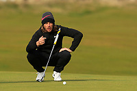 Tommy Fleetwood (ENG) on the 16th green during round 4 of the Alfred Dunhill Links Championship at Old Course St. Andrew's, Fife, Scotland. 07/10/2018.<br /> Picture Thos Caffrey / Golffile.ie<br /> <br /> All photo usage must carry mandatory copyright credit (&copy; Golffile | Thos Caffrey)