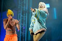 Watkin Tudor Jones / Ninja und Yolandi Visser von Die Antwoord live auf dem 20. Melt! Festival 2017 auf der Halbinsel Ferropolis. Gräfenhainchen, 16.07.2017