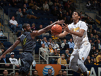 Tyrone Wallace of California in action during the game against UC Irvine at Haas Pavilion in Berkeley, California on December 2nd, 2013.  California defeated UC Irvine, 73-56.