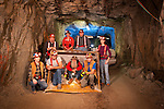 Sutter Gold Mining Company crew 1500 feet underground below the Sutter Creek City Limits in the Sutter Gold/Lincoln Project gold mine.
