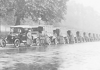 BNPS.co.uk (01202 558833)<br /> Pic: Pen&Sword/BNPS<br /> <br /> PICTURED: The French convoy waiting to leave London.<br /> <br /> These inspiring photos of nurses on the front line feature in a new book which charts a century's heroic wartime service.<br /> <br /> The First Aid Nursing Yeomanry (FANY) was founded in 1907 by Captain Edward Baker with the early recruits trained in cavalry, signalling and camping.<br /> <br /> They were despatched to France at the outset for World War One to tend to injured troops on the battlefield, setting up hospitals for the many casualties. Other heroines dragged wounded personnel from exploding ammunition dumps.<br /> <br /> The brave nurses were again in the centre of the action in World War Two, performing sterling work in the harshest of conditions.<br /> <br /> Their stories feature in The First Aid Nursing Yeomanry in War and Peace, by Hugh Popham.