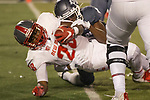 New Mexico running back Ahmari Davis (28) dives over the goal line for a touchdown against Nevada in the first half of an NCAA college football game in Reno, Nev., Saturday, Nov. 2, 2019. (AP Photo/Tom R. Smedes)