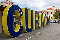 Willemstad, Curacao, Lesser Antilles.  Street Scene, Popular Photographic Site for Tourists.