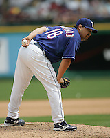 Texas Rangers P Eddie Guardado against Seattle on May 14th, 2008 at Texas Rangers Ball Park. Photo by Andrew Woolley .