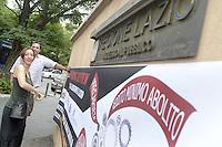Roma 12 Luglio 2012.Sede Regione Lazio.Precari in assemblea contro i tagli della giunta presieduta da Renata Polverini fatti contro welfare e politiche sociali