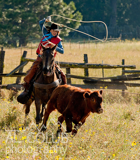 Cowboy Photography Workshop   Erickson Cattle Co. ..Andra Erickson.. Photo by Al Golub/Golub Photography