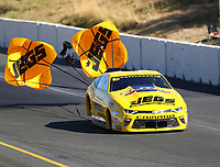 Jul 29, 2017; Sonoma, CA, USA; NHRA pro stock driver Jeg Coughlin Jr during qualifying for the Sonoma Nationals at Sonoma Raceway. Mandatory Credit: Mark J. Rebilas-USA TODAY Sports