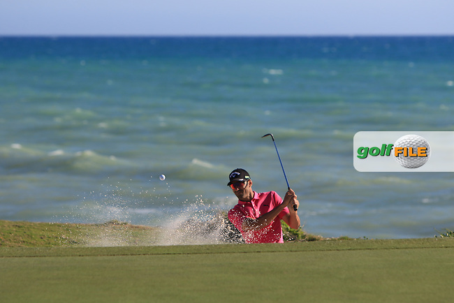 Alvaro Quiros (ESP) on the 15th green during Round 3 of The Rocco Forte Open  at Verdura Golf Club on Saturday 20th May 2017.<br /> Photo: Golffile / Thos Caffrey.<br /> <br /> All photo usage must carry mandatory copyright credit     (&copy; Golffile   Thos Caffrey)