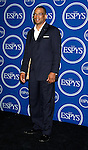ESPN personality Stuart Scott poses in the press room at the 2008 ESPY Awards held at NOKIA Theatre L.A. LIVE on July 16, 2008 in Los Angeles, California.