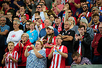 Lincoln City fans enjoy the pre-match atmosphere<br /> <br /> Photographer Chris Vaughan/CameraSport<br /> <br /> The EFL Sky Bet League One - Lincoln City v Bristol Rovers - Saturday 14th September 2019 - Sincil Bank - Lincoln<br /> <br /> World Copyright © 2019 CameraSport. All rights reserved. 43 Linden Ave. Countesthorpe. Leicester. England. LE8 5PG - Tel: +44 (0) 116 277 4147 - admin@camerasport.com - www.camerasport.com