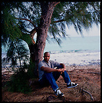 Jan 96-Orlando Hernandez, Cuban pitcher has just defected from Cuba. Pictured here in the bahamas on the beach. First western magazine photo of EL DUQUE New York Yankees World Series MVP.
