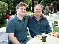 Graduating seniors and their families have brunch with Occidental College President Jonathan Veitch during Commencement weekend, Saturday, May 14, 2011, the Annenberg President's House. (Photo by Marc Campos, Occidental College Photographer)