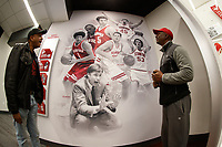 Stanford, CA -- January 12, 2019: Stanford Men's Basketball exhibit in the Hall of Champions.