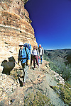 Tom, Shelly & Vince Hiking To Cliff Dwelling On Mustang Ridge, Apache Reservation