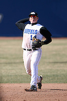 April 5, 2009:  /ss/ Jacob Rosenbeck (14) of the University of Buffalo Bulls during a game at Amherst Audubon Field in Buffalo, NY.  Photo by:  Mike Janes/Four Seam Images