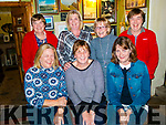 Ladies night<br /> -----------------<br /> Pauline Kerin from Brandon, seated centre, enjoying a night out with friends and neighbours in O'Connor's bar, Cloghane last Tuesday October 17th, as she is heading for Melbourne, Australia to her 3 sisters, seated L-R Sandra O'Donnell, Pauline Kerin&amp;Carmella Moriarty, back L-R Annmarie Dowd, Siobhan O'Connor with Deirdre&amp;Eileen Lynch.