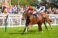 Winner of The Sorvio Insurance Brokers Maiden Auction Fillies' Stakes  Elegant Erin ridden by Tom Marquand untrained by Richard Hannon during Horse Racing at Salisbury Racecourse on 15th August 2019