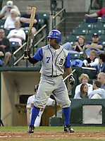 May 10, 2004:  Anton French of the Durham Bulls, International League (AAA) affiliate of the Tampa Bay Devil Rays, during a game at Frontier Field in Rochester, NY.  Photo by:  Mike Janes/Four Seam Images