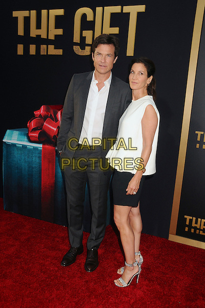 30 July 2015 - Los Angeles, California - Jason Bateman, Amanda Anka. &quot;The Gift&quot; Los Angeles Premiere held at Regal Cinemas LA Live.  <br /> CAP/ADM/BP<br /> &copy;Byron Purvis/AdMedia/Capital Pictures