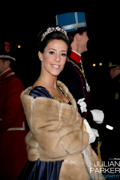 Prince Joachim & Princess Marie of Denmark attends the Traditional New Year Gala Dinner, at Amalienborg Palace in Copenhagen Denmark