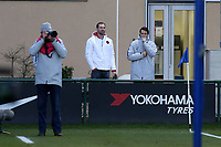 Ex Chelsea and current Arsenal goalkeeper, Petr Cech, watches on from the touchline during Chelsea Under-19 vs AS Monaco Under-19, UEFA Youth League Football at the Cobham Training Ground on 19th February 2019