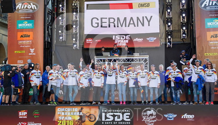 Germany enduro team during the presentation of the FIM international six days of enduro 2016 in Pamplona, Spain. October 09, 2016. (ALTERPHOTOS/Rodrigo Jimenez)
