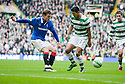 :: RANGERS' NIKICA JELAVIC SHOOTS AT GOAL ::