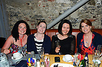 Tracey Harte, Lara McAvoy, Shona McManus and Eileen O'Connor at Stella Bowe's 40th www.newsfile.ie