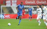 Bolton Wanderers' Sammy Ameobi under pressure from Swansea City's Matt Grimes<br /> <br /> Photographer Kevin Barnes/CameraSport<br /> <br /> The EFL Sky Bet Championship - Swansea City v Bolton Wanderers - Saturday 2nd March 2019 - Liberty Stadium - Swansea<br /> <br /> World Copyright © 2019 CameraSport. All rights reserved. 43 Linden Ave. Countesthorpe. Leicester. England. LE8 5PG - Tel: +44 (0) 116 277 4147 - admin@camerasport.com - www.camerasport.com