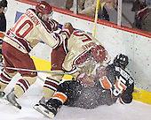 Ryan Helgason, Andrew Thomas, Patrick Neundorfer - The Princeton University Tigers defeated the University of Denver Pioneers 4-1 in their first game of the Denver Cup on Friday, December 30, 2005 at Magness Arena in Denver, CO.