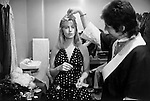 "Paul and Linda McCartney  Wings Tour 1975. Paul and Linda in their  dressing room, Liverpool, England.. The photographs from this set were taken in 1975. I was on tour with them for a children's ""Fact Book"". This book was called, The Facts about a Pop Group Featuring Wings. Introduced by Paul McCartney, published by G.Whizzard. They had recently recorded albums, Wildlife, Red Rose Speedway, Band on the Run and Venus and Mars. I believe it was the English leg of Wings Over the World tour. But as I recall they were promoting,  Band on the Run and Venus and Mars in particular."