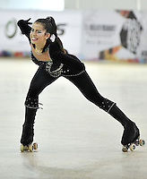 CALI – COLOMBIA – 21 – 09 – 2015: Marina Souto, deportista de Portugal, durante la prueba de Solo Danza Juvenil Damas en el LX Campeonato Mundial de Patinaje Artistico, en el Velodromo Alcides Nieto Patiño de la ciudad de Cali. / Marina Souto, sportwoman from Portugal, during the Compulsory Solo Dance Junior Ladies test, in the LX World Championships Figure Skating, at the Alcides Nieto Patiño Velodrome in Cali City. Photo: VizzorImage / Luis Ramirez / Staff.