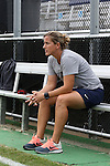 07 September 2014: PSU head coach Erica Walsh. The Duke University Blue Devils hosted the Penn State University Nittany Lions at Koskinen Stadium in Durham, North Carolina in a 2014 NCAA Division I Women's Soccer match. PSU won the game 4-3.