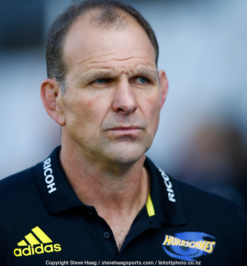 DURBAN, SOUTH AFRICA - JUNE 01: John Plumtree (Head Coach) of the Hurricanes during the Super Rugby match between Cell C Sharks and Hurricanes at Jonsson Kings Park Stadium in Durban, South Africa on Saturday, 1 June 2019. Photo by Steve Haag / stevehaagsports.com