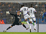 Loic Remy of Chelsea scores their first goal past Kasper Schmeichel of Leicester City - English Premier League - Leicester City vs Chelsea - King Power Stadium - Leicester - England - 14th December 2015 - Picture Simon Bellis/Sportimage