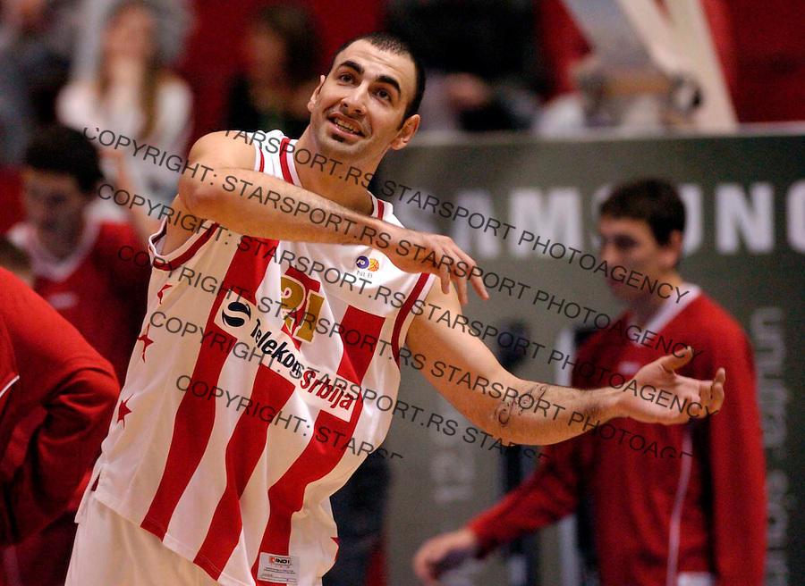 Sport Kosarka Basketball Crvena Zvezda Red Star Olimpija NLB jadranska liga 18.11.2006.  Pero Antic photo: Pedja Milosavljevic<br />