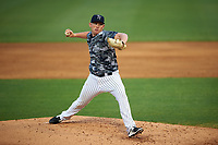 Tampa Yankees starting pitcher Zack Littell (36) delivers a pitch during a game against the Bradenton Marauders on April 15, 2017 at George M. Steinbrenner Field in Tampa, Florida.  Tampa defeated Bradenton 3-2.  (Mike Janes/Four Seam Images)