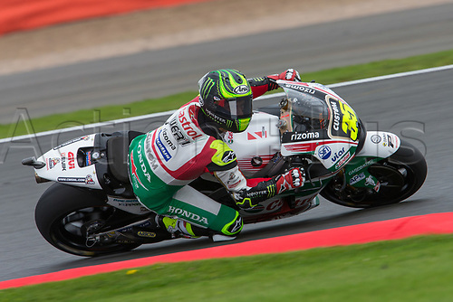 26th August 2017, Silverstone Circuit, Northamptonshire, England; British MotoGP, Qualifying; LCR Honda MotoGP rider Cal Crutchlow looking for a home win