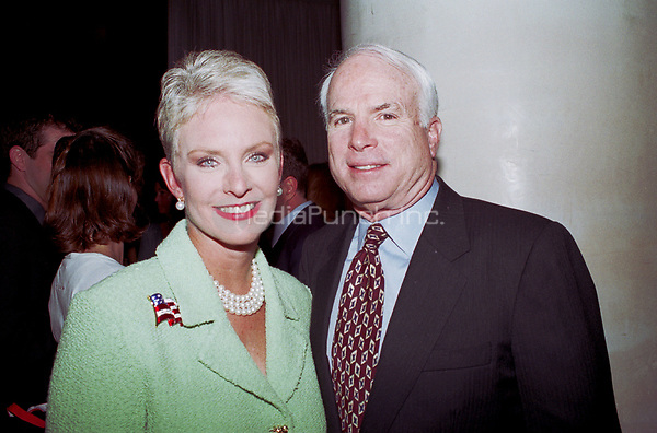 Senator John McCain and wife Cindy the Republican National Convention in Philadelphia. <br /> August 2000 &copy; Scott Weiner/ MediaPunch