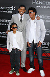 "Actor Will Smith and sons actor Jaden Smith and Trey Smith arrive to The World Premiere of Columbia Pictures' ""Hancock"" at the Grauman's Chinese Theatre on June 30, 2008 in Hollywood, California."