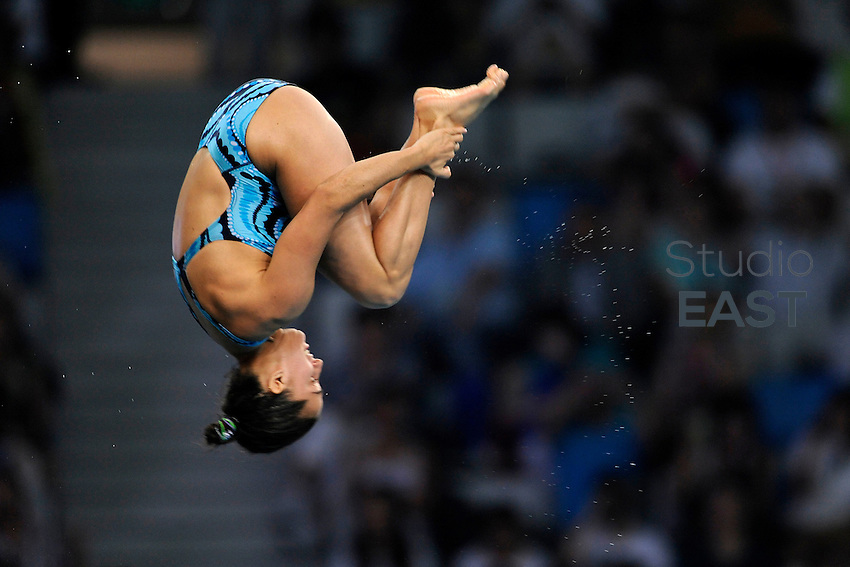 Canada's Marie-Eve Marleau dives during the women's 10 m platform diving competition, in Beijing Olympics, on August 20, 2008, in Beijing, China. Photo by Lucas Schifres/Pictobank/Cameleon/ABACAPRESS.COM