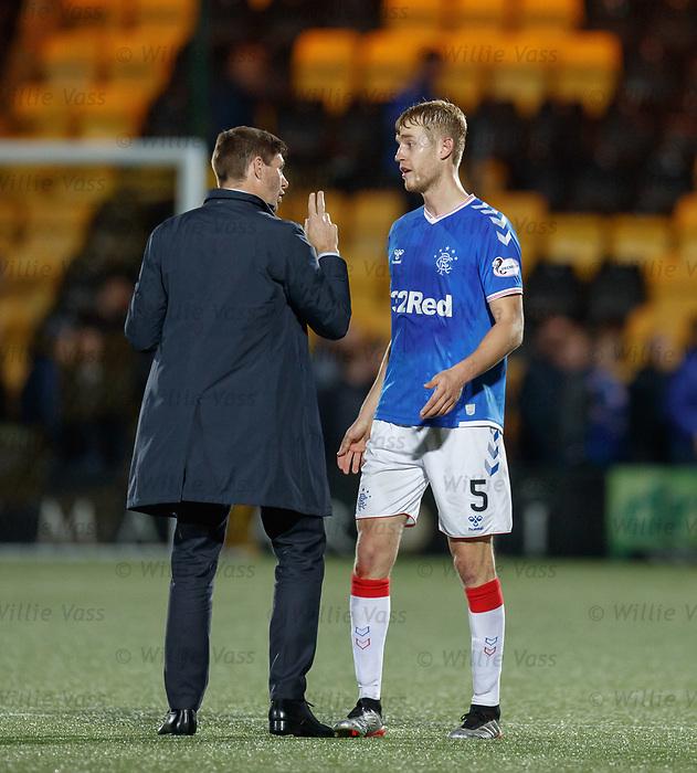 25.09.2018 Livingston v Rangers: Steven Gerrard with Filip Helander