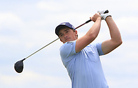 Paul Dunne (IRL) on the 5th tee during Round 4 of the Open de Espana 2018 at Centro Nacional de Golf on Sunday 15th April 2018.<br /> Picture:  Thos Caffrey / www.golffile.ie<br /> <br /> All photo usage must carry mandatory copyright credit (&copy; Golffile   Thos Caffrey)