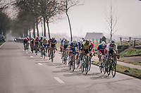 World Champion Peter Sagan (SVK/Bora-Hansgrohe) driving the first peloton in the race finale<br /> <br /> 81st Gent-Wevelgem in Flanders Fields (1.UWT)<br /> Deinze &gt; Wevelgem (251km)