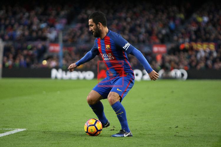 League Santander 2016/2017. Game: 18.<br /> FC Barcelona vs UD Las Palmas: 5-0.<br /> Arda Turan.