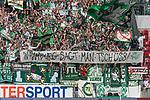 12.05.2018, OPEL Arena, Mainz, GER, 1.FBL, 1. FSV Mainz 05 vs SV Werder Bremen<br /> <br /> im Bild<br /> Werder Bremen Fans feiern den Abstieg von Hamburger SV / HSV in die 2. Liga mit Bannern, Spruchb&auml;ndern, Applaus, Jubel, Pyrotechnik, Gesang, <br /> &quot;In Hamburg sagt man tsch&uuml;ss!&quot;, <br /> <br /> Foto &copy; nordphoto / Ewert
