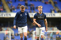 Ipswich Town's Matthew Pennington and James Bree during the pre-match warm-up <br /> <br /> Photographer Hannah Fountain/CameraSport<br /> <br /> The EFL Sky Bet Championship - Ipswich Town v Nottingham Forest - Saturday 16th March 2019 - Portman Road - Ipswich<br /> <br /> World Copyright &copy; 2019 CameraSport. All rights reserved. 43 Linden Ave. Countesthorpe. Leicester. England. LE8 5PG - Tel: +44 (0) 116 277 4147 - admin@camerasport.com - www.camerasport.com
