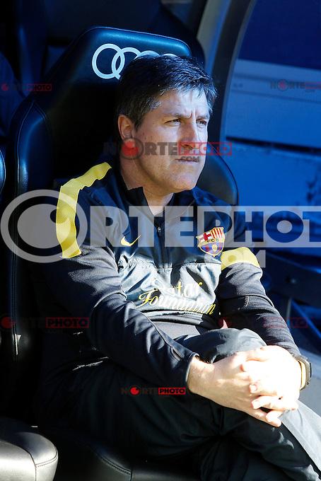 FC Barcelona's coach Jordi Roura during La Liga match.March 02,2013. (ALTERPHOTOS/Acero) /NortePhoto