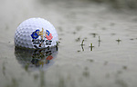 NEWPORT, WALES - OCTOBER 1: A detail shot of a ball on the course during the 2010 Ryder Cup at the Celtic Manor Resort on October 1, 2010 in Newport, Wales. (Photo by Donald Miralle)